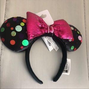 Disney Ears Minnie Mouse Polka Dot Ear Headband